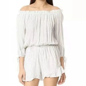 Maven West Charli Off Shoulder Romper, Size XS